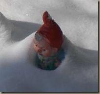 Zwerg im Schnee