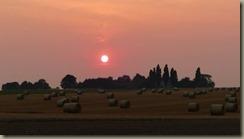 Strohballen-Wiese, Sonnenuntergang